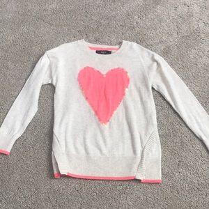 Girls heart sweater